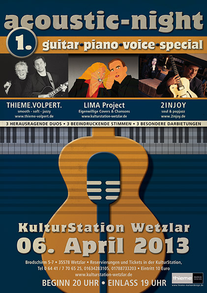 Plakat 1. Acoustic-Night Wetzlar 2014