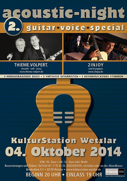 Plakat 2. Acoustic-Night Wetzlar 2014