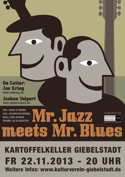 Plakat Mr. Jazz meets Mr. Blues Hafensommer