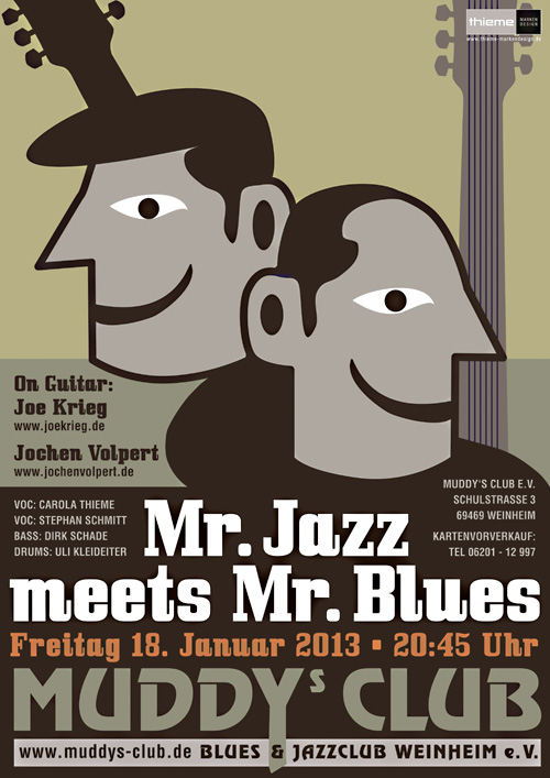 Plakat Mr. Jazz meets Mr. Blues Muddys Club